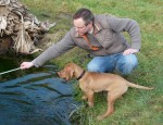 Tim and Phoenix at the Pond.