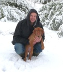 With Tim in the Snow.